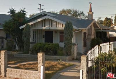Los Angeles Single Family Home For Sale: 1835 West 43rd Street