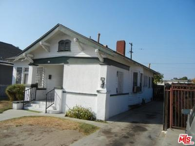 Los Angeles Single Family Home For Sale: 225 East 59th Place