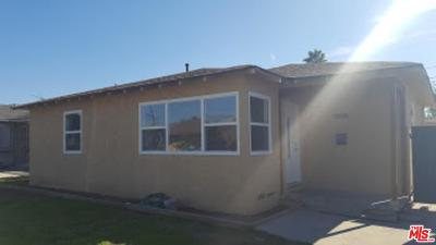 Los Angeles Single Family Home For Sale: 1554 West 111th Street