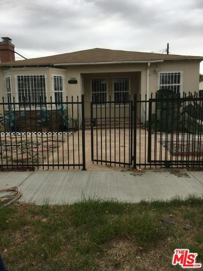 Los Angeles Single Family Home For Sale: 2074 West 99th Street