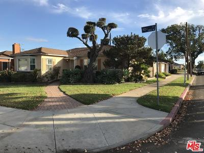 Los Angeles Single Family Home For Sale: 2126 West 92nd Street