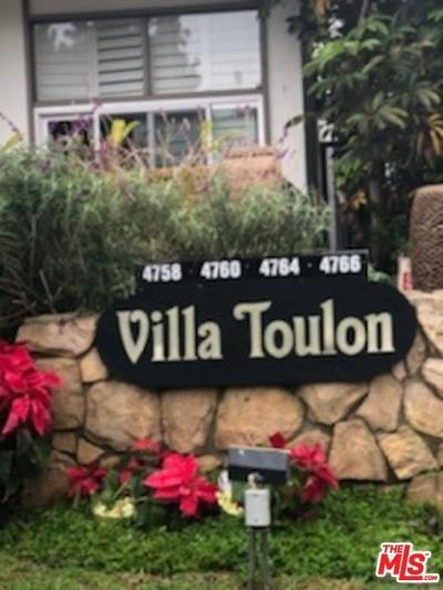 Marina Del Rey Condo/Townhouse For Sale: 4760 La Villa Marina #C