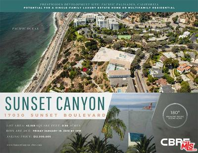 Los Angeles County Residential Lots & Land For Sale: 17030 West Sunset