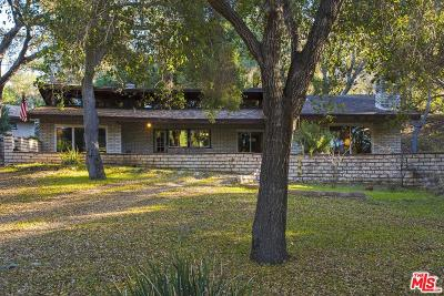 Single Family Home For Sale: 465 Cold Canyon Road