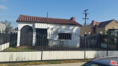 Los Angeles Single Family Home For Sale: 1821 West 68th Street