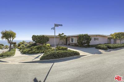 Malibu Single Family Home For Sale: 3703 Castlerock Road