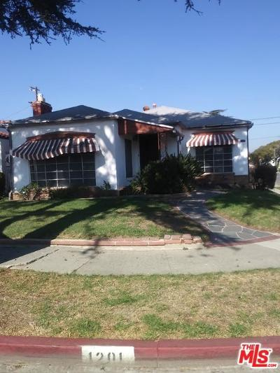 Los Angeles Single Family Home For Sale: 1201 West 81st Place