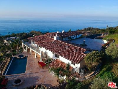 Los Angeles County Single Family Home For Sale: 4400 Encinal Canyon Road