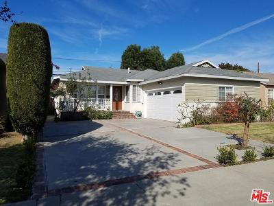 Culver City Single Family Home For Sale: 11723 McDonald Street