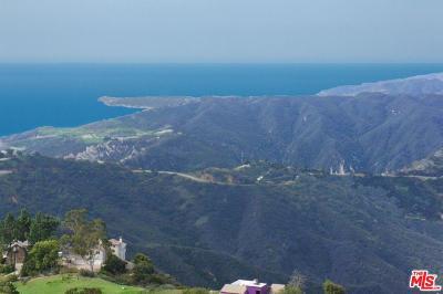 Malibu Residential Lots & Land For Sale: West Saddle Peak Road