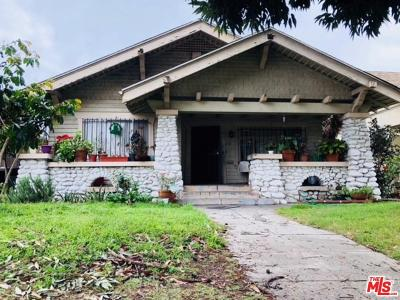 Los Angeles Single Family Home For Sale: 1128 West 49th Street