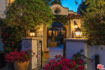 Beverly Hills CA Single Family Home For Sale: $7,695,000