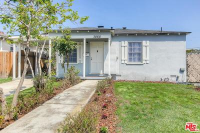 Culver City Single Family Home For Sale: 3868 Tilden Avenue