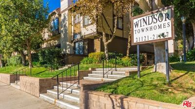 Chatsworth Condo/Townhouse For Sale: 21213 Lassen Street #4