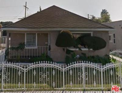 Los Angeles Single Family Home For Sale: 1216 West 65th Place