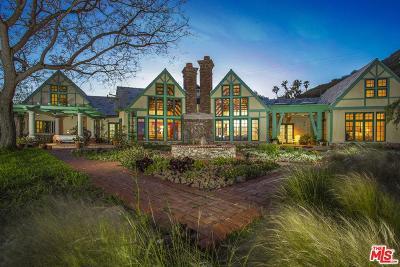 Single Family Home For Sale: 20990 Las Flores Mesa Drive