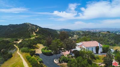 Topanga Single Family Home For Sale: 2693 Old Topanga Canyon Road