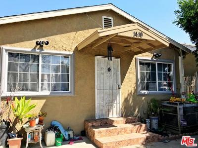 Los Angeles Single Family Home For Sale: 1419 West 59th Place