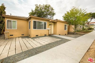 Single Family Home For Sale: 3709 South Centinela Avenue