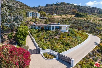 Malibu Single Family Home For Sale: 31347 Pacific Coast Highway