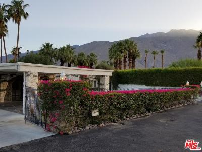 Palm Springs Single Family Home For Sale: 1055 East Paseo El Mirador