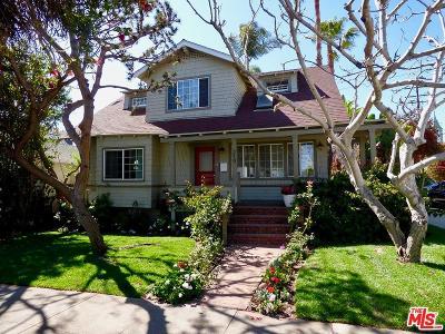 Santa Monica Single Family Home For Sale: 219 Hollister Avenue