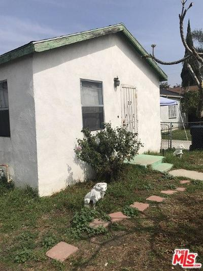 Los Angeles Single Family Home For Sale: 2445 East 113th Street
