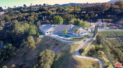 Single Family Home For Sale: 16401 Mulholland Drive