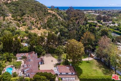 Malibu Single Family Home For Sale: 3426 Serra Road