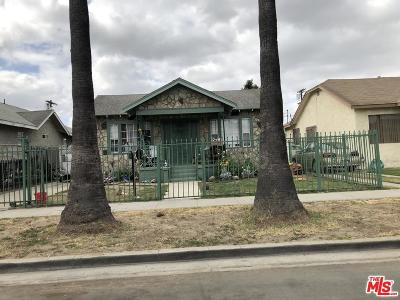 Los Angeles Single Family Home For Sale: 922 East 73rd Street