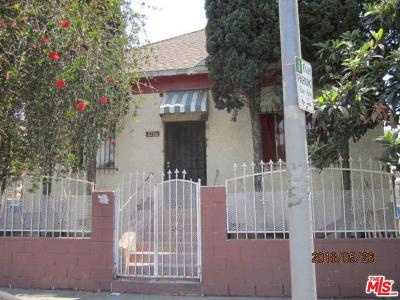 Los Angeles Single Family Home For Auction: 1214 East Vernon Avenue