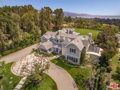 Single Family Home For Sale: 6950 Dume Drive