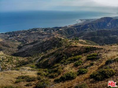 Malibu CA Residential Lots & Land For Sale: $5,900,000