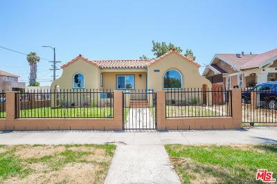 Los Angeles Single Family Home For Sale: 1600 West 79th Street
