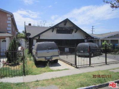 Los Angeles Single Family Home For Sale: 366 East 57th Street