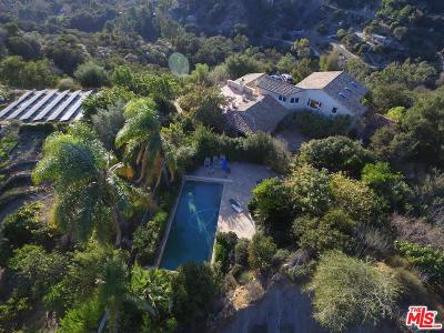 Topanga Single Family Home For Sale: Topanga Skyline Drive
