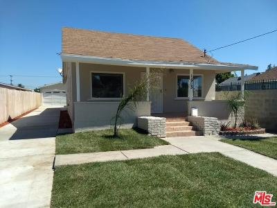 Los Angeles Single Family Home For Sale: 1513 West 105th Street