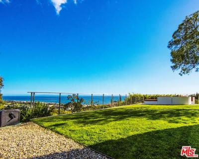 Malibu Single Family Home For Sale: 3505 Coast View Drive