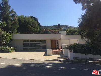 Pacific Palisades Single Family Home For Sale: 1248 Bienveneda Avenue