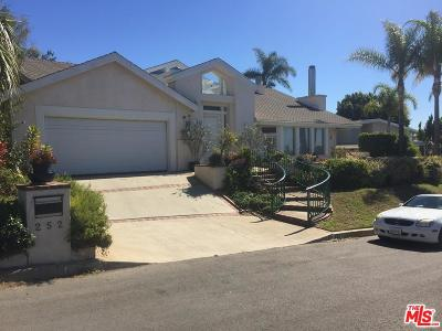 Pacific Palisades Single Family Home For Sale: 252 Bellino Drive