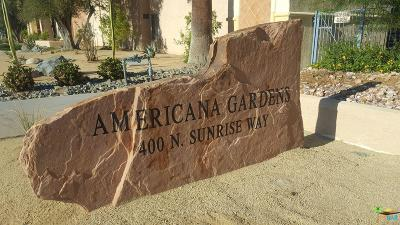 Palm Springs Condo/Townhouse For Sale: 400 North Sunrise Way #138