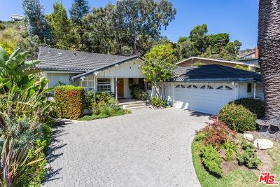 Pacific Palisades Single Family Home For Sale: 725 Jacon Way