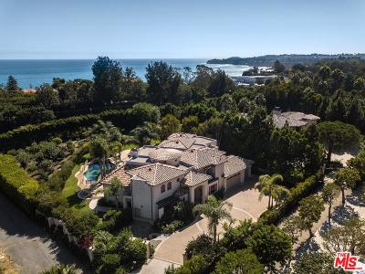 Malibu CA Single Family Home For Sale: $4,995,000
