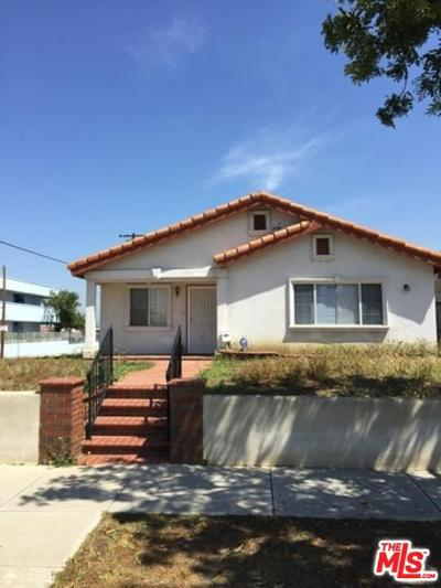 Los Angeles Single Family Home For Sale: 2059 West 75th Street