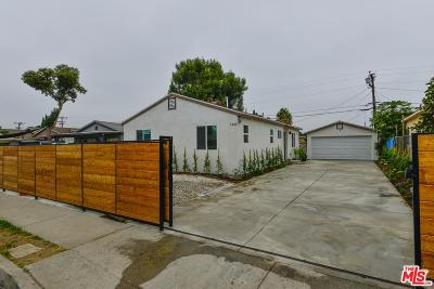 Compton Single Family Home For Sale: 1443 West 154th Street