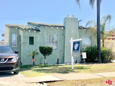 Los Angeles Single Family Home For Sale: 1118 West 81st Place