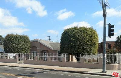 Los Angeles Single Family Home For Sale: 6030 South Van Ness Avenue