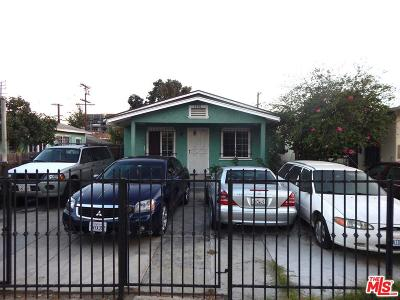 Los Angeles Single Family Home For Sale: 1720 West 36th Street