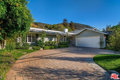 Single Family Home For Sale: 3416 Mandeville Canyon Road