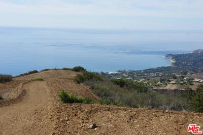 Malibu CA Residential Lots & Land For Sale: $6,950,000